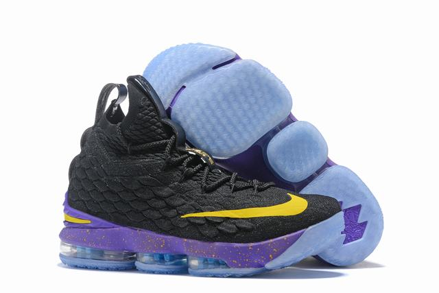 Nike Lebron James 15 Air Cushion Shoes Lakers Purple